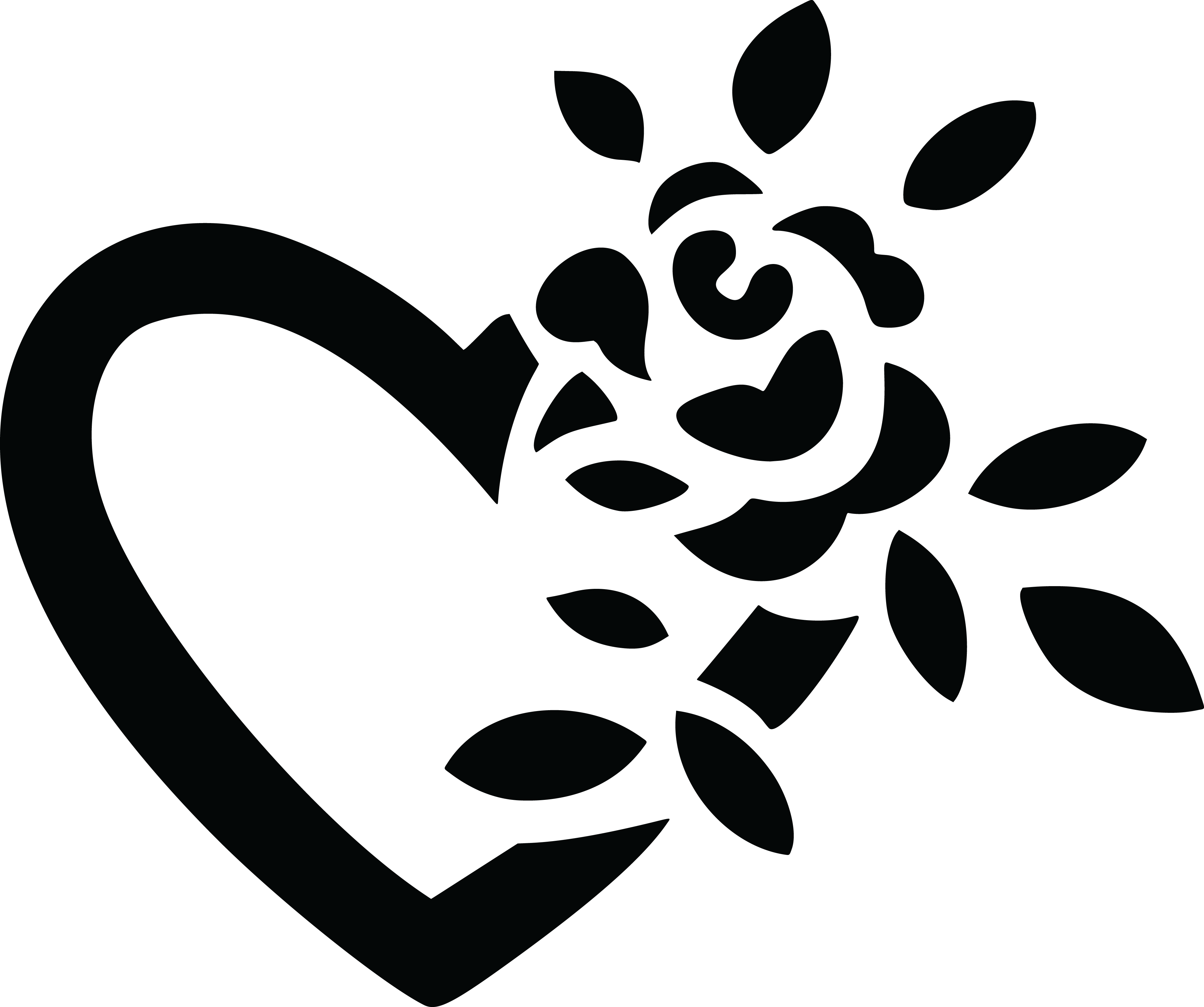 Free clipart of a black and white fully bloomed rose and - Black and white love pictures ...