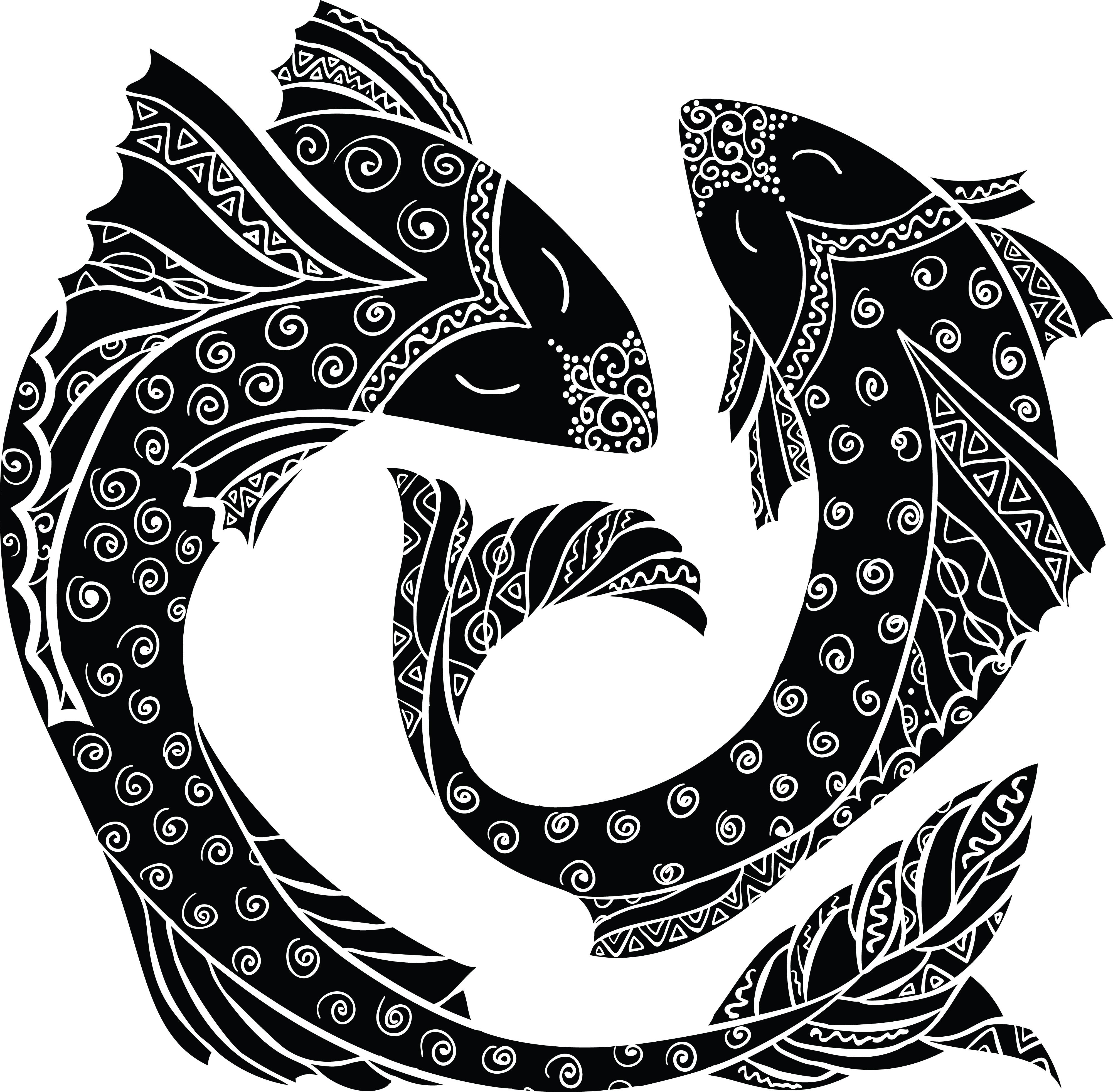 free clipart of horoscope astrology zodiac pisces fish rh free clipartof com zodiac clipart png zodiac clipart black and white
