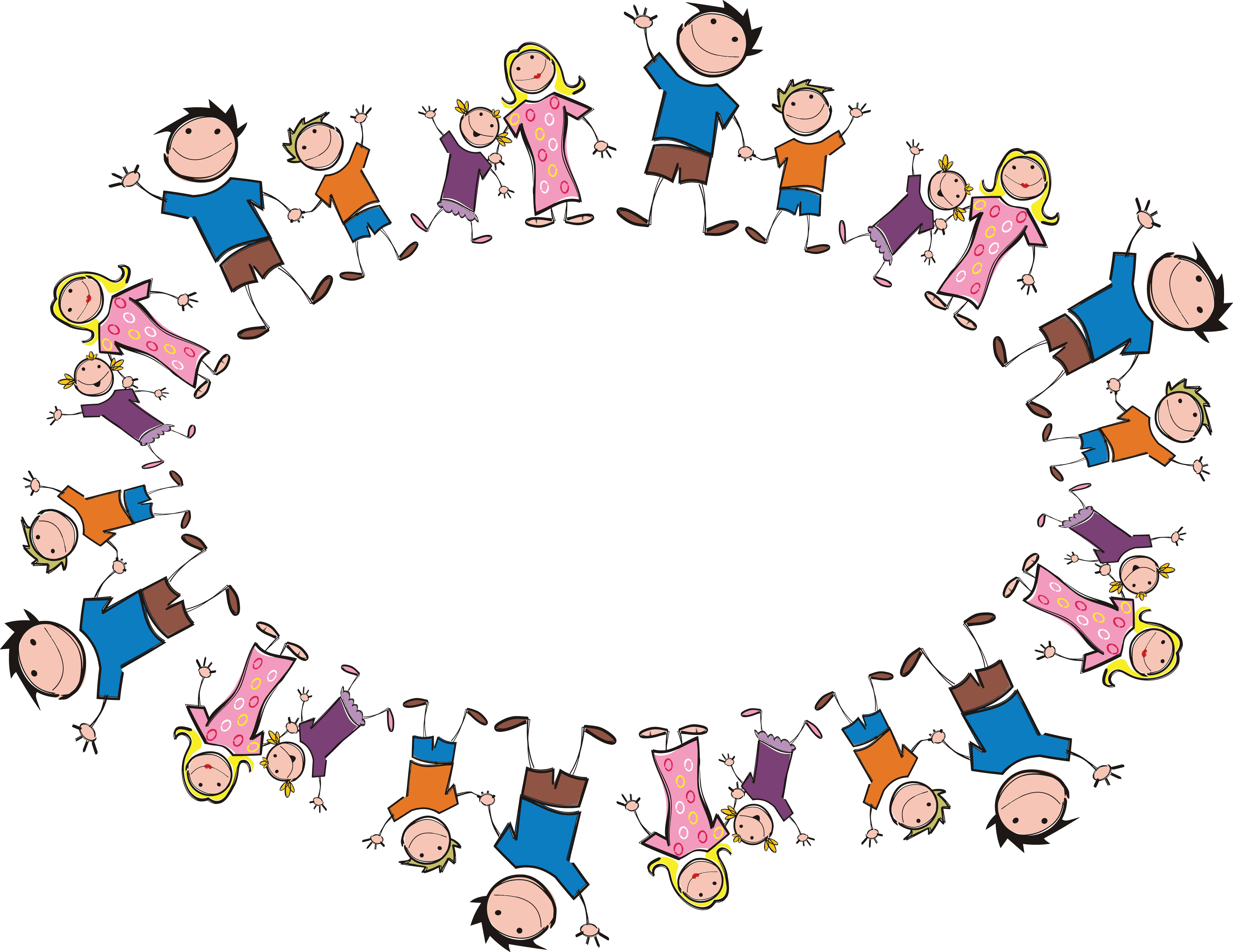 Free Clipart Of An Oval Frame Made Stick Family Members