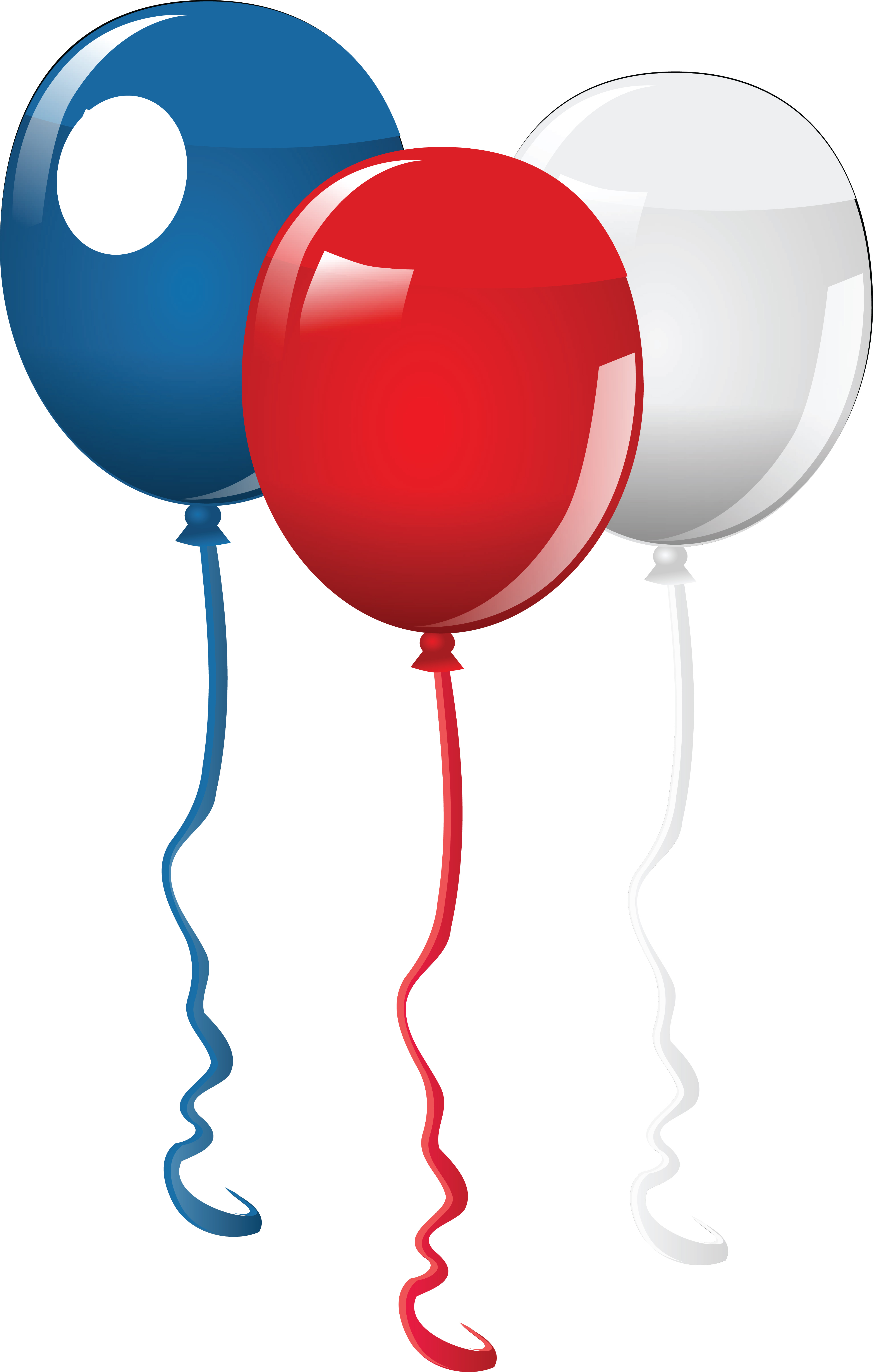 clipart of fourth of july party balloons