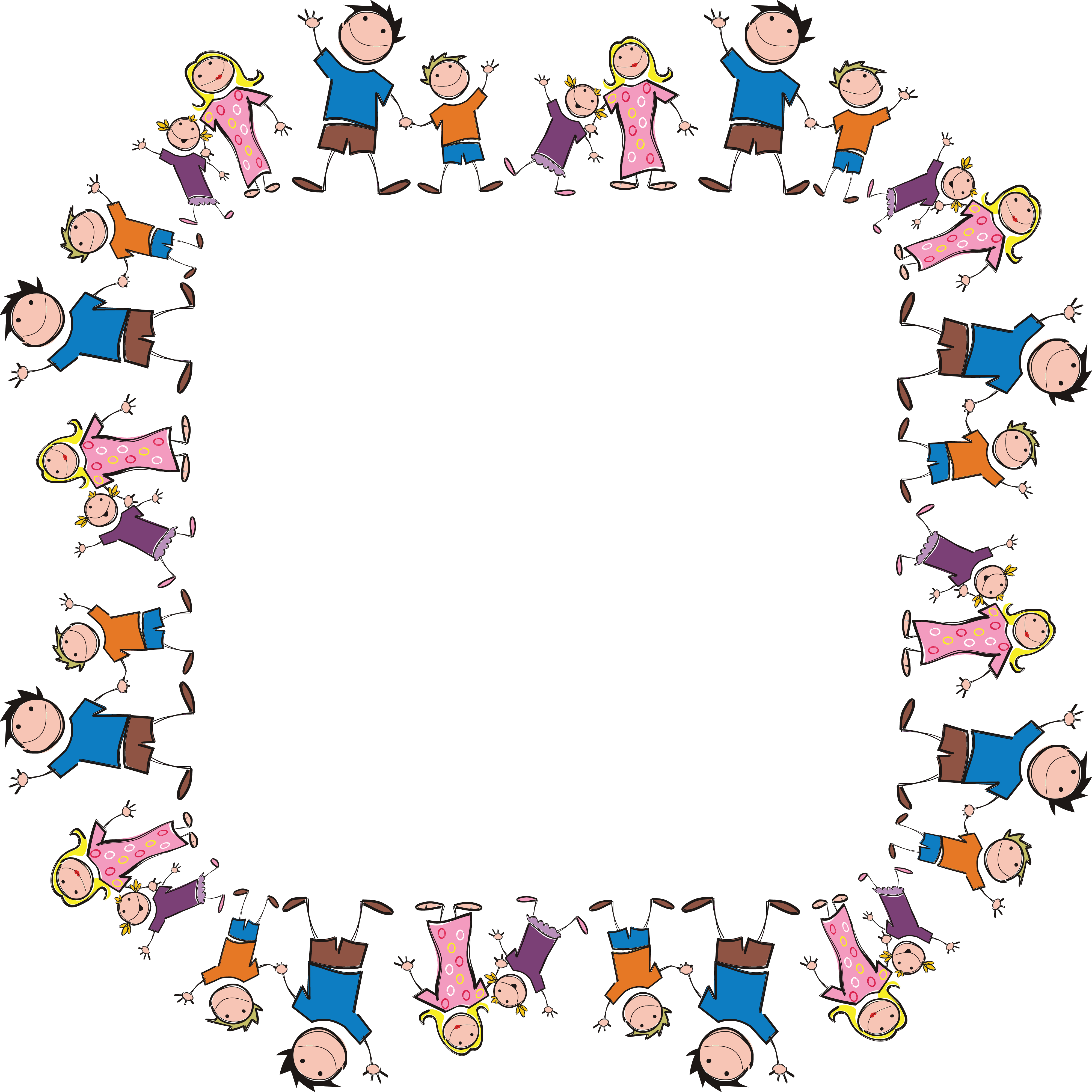 free clipart of a square frame made of stick family members rh free clipartof com free clipart family members