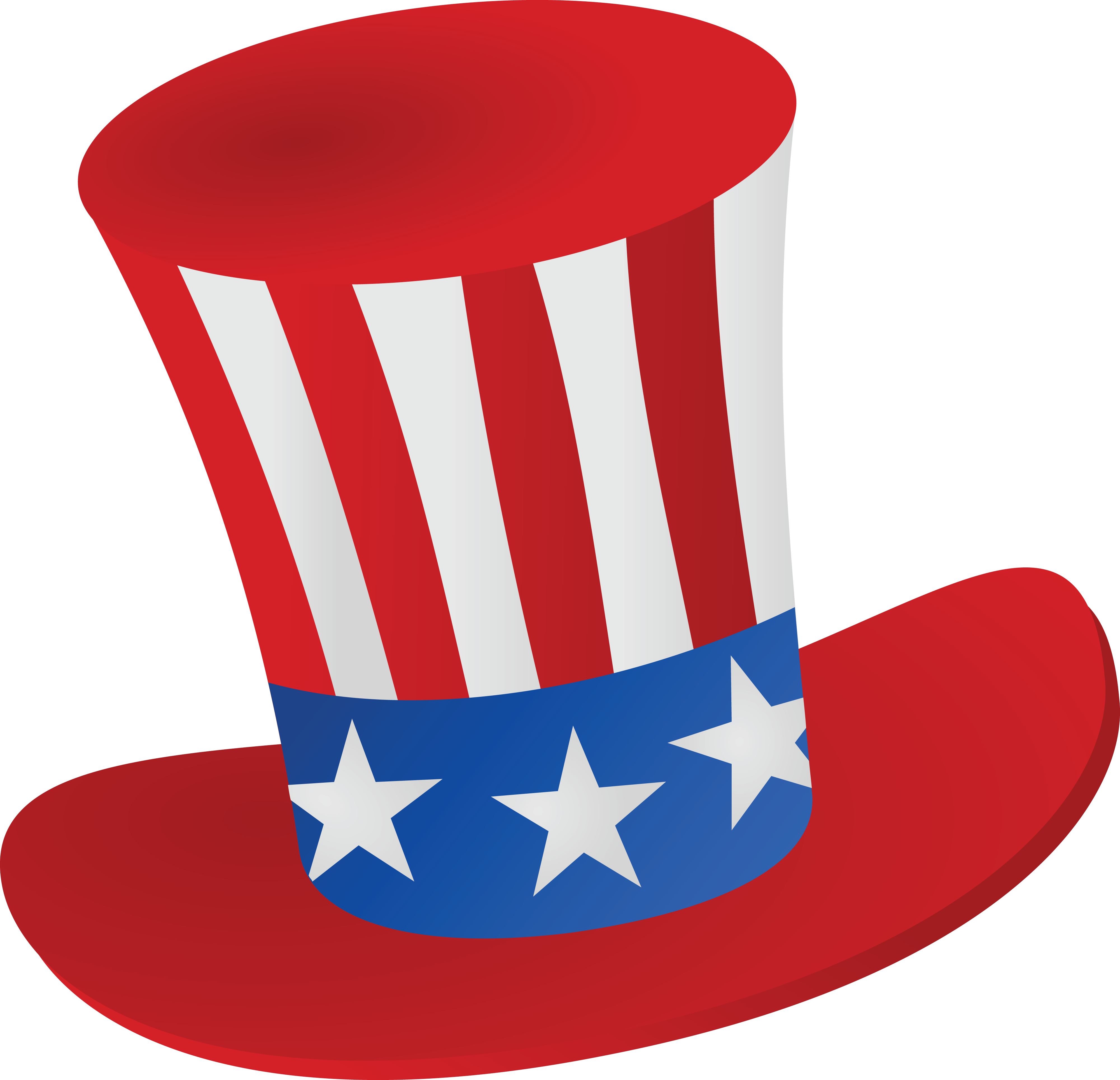 free clipart of a patriotic american top hat rh free clipartof com patriotic clip art borders free patriotic clip art borders