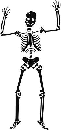 Happy Skeleton - Free Halloween Vector Clipart Illustration
