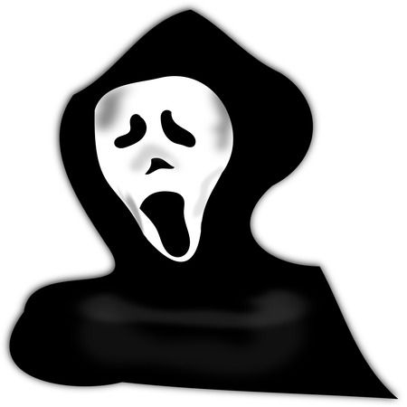 Haunting Halloween Ghost Free Clipart Illustration