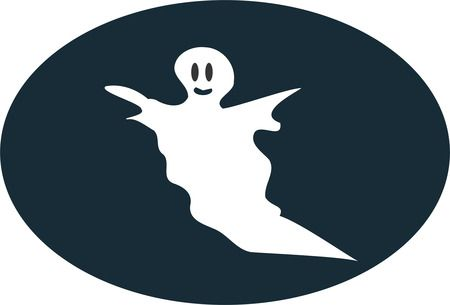 Curious Ghost - Free Halloween Vector Clipart Illustration
