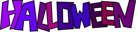 Purple And Blue HALLOWEEN - Free Halloween Clipart Illustration