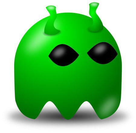 Free Vector Clipart Illustration Of Green Alien Avatar Character