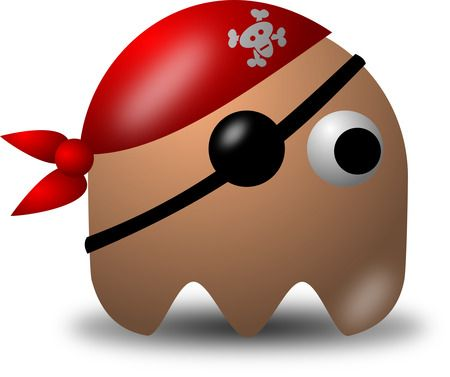 Avatar Pirate Character Wearing Eyepatch And Bandana - Free Vector Clipart Illustration