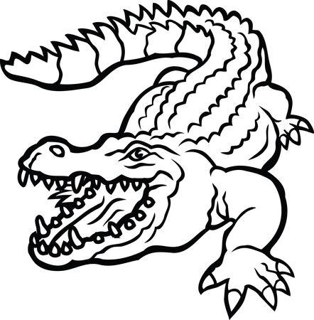 Free Clipart Of A crocodile