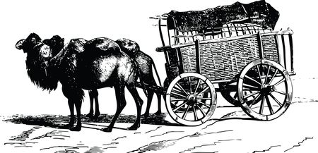 Free Clipart Of A camel wagon
