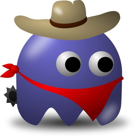 Rodeo Cowbow Avatar Character With Hat, Bandana, And Spurs - Free Vector Clipart Illustration