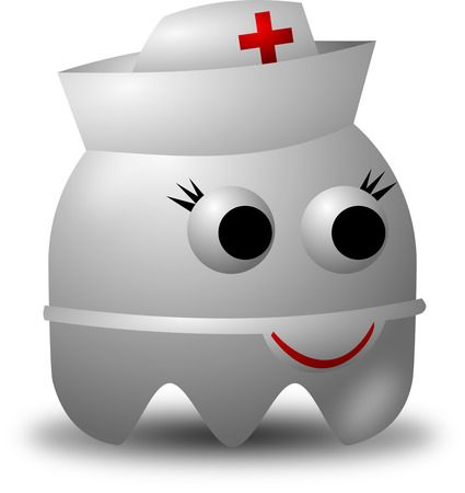 Registered Nurse Avatar Character Wearing A Hat - Free Vector Clipart Illustration
