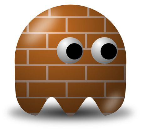 Brick Patterned Avatar Character - Free Vector Clipart Illustration
