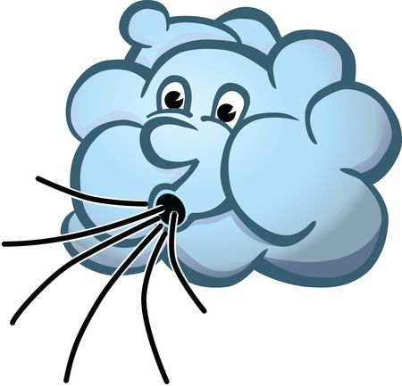 Free Clipart Of A cloud blowing wind