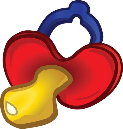 Free Clipart Of A baby pacifier
