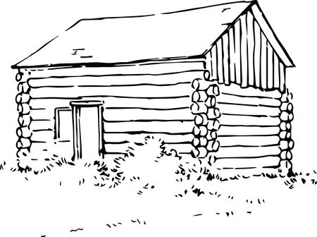 Free Clipart Of A log cabin
