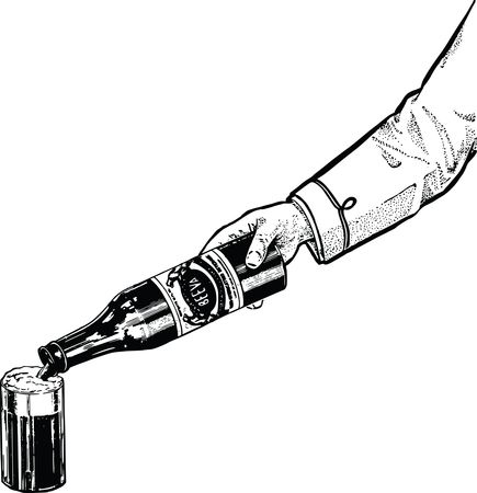 Free Clipart Of A hand pouring a drink