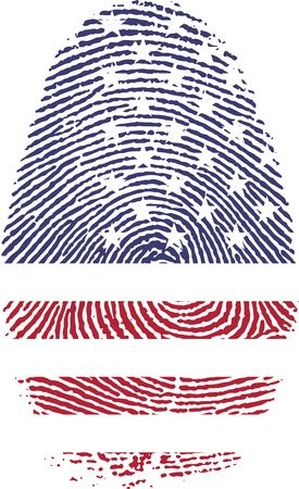 Free Clipart Of An american patterned finger print