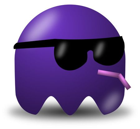 Cool Purple Avatar Character Wearing Shades - Free Vector Clipart Illustration