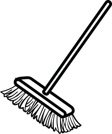Free Clipart Of A shop broom
