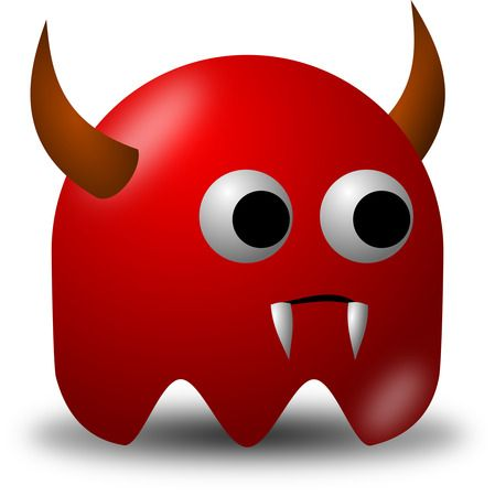 Devil Avatar Character With Horns And Fangs - Free Vector Clipart Illustration