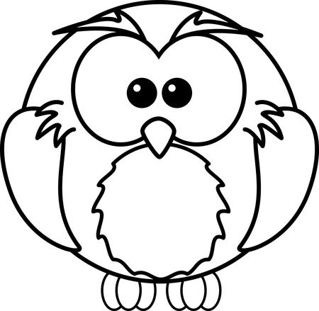 Free Cartoon Owl Coloring Page Clipart