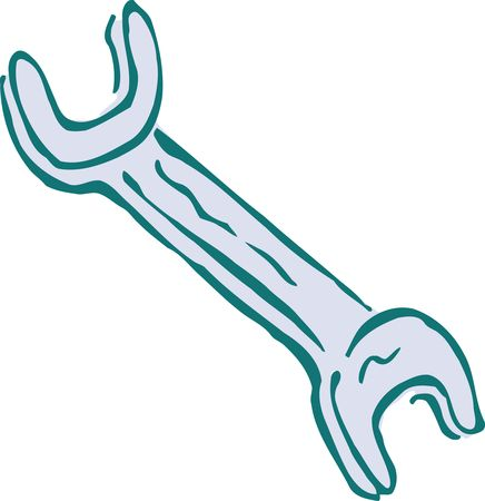 Free Clipart Of A spanner wrench