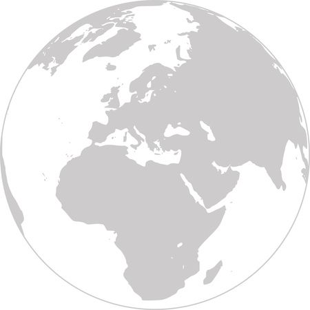 Free Clipart - Grayscale Globe Featuring Europe