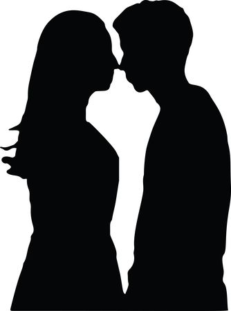 Free Clipart Of A romantic couple