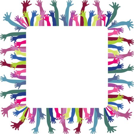Free Clipart Of A frame of hands