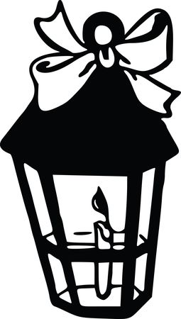 Free Clipart Of A candle lantern