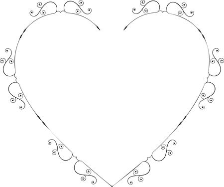 Free Clipart Of A heart swirl frame