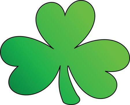 Free Clipart Of A Green Outlined Clover Shamrock, St Patricks Day