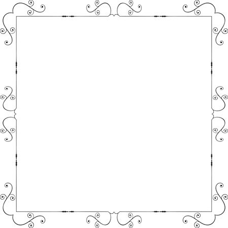 Free Clipart Of A square swirl frame