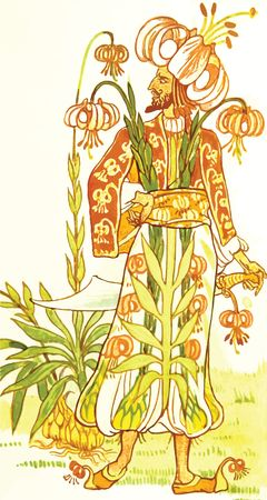 Free Clipart Of A floral warrior
