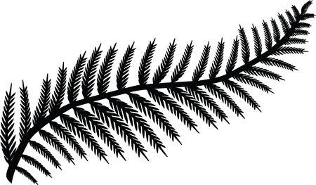 Free Clipart Of A fern leaf