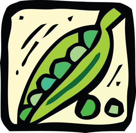 Free Clipart Of A pea pod