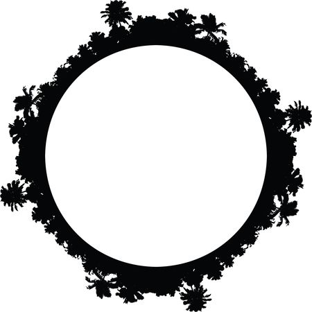 Free Clipart Of A palm tree border