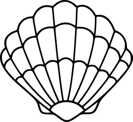 Free Clipart Of A scallop sea shell