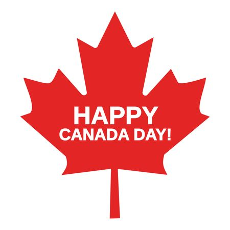 Free clipart of a happy canada day maple leaf