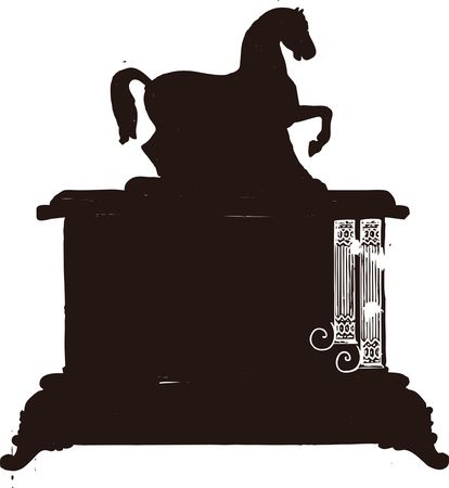 Free clipart of a mantle clock