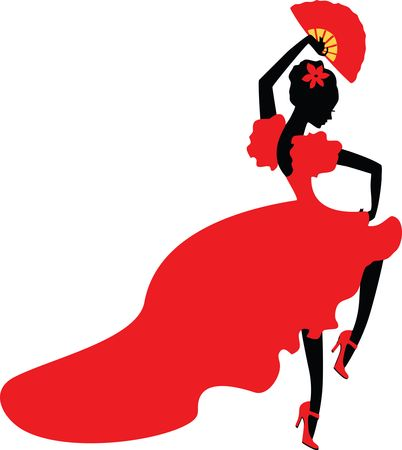 Free Clipart Of A flamenco dancer