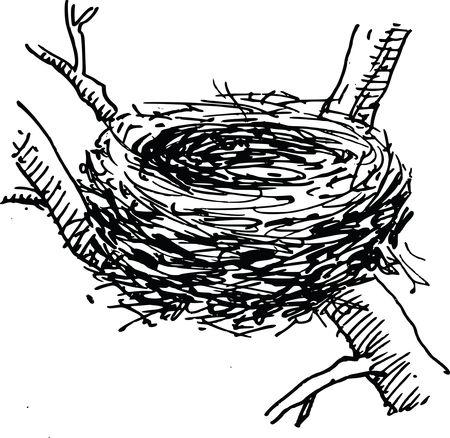 Free Clipart Of a bird nest
