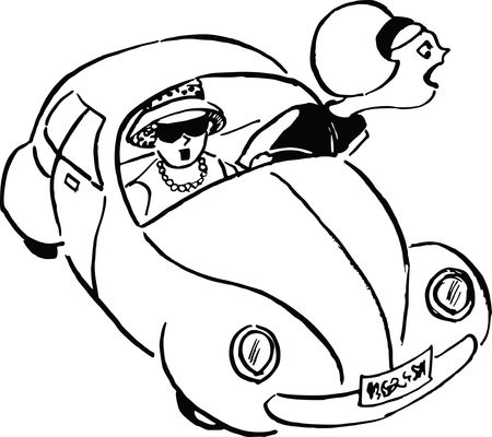 Free Clipart Of a furious driver