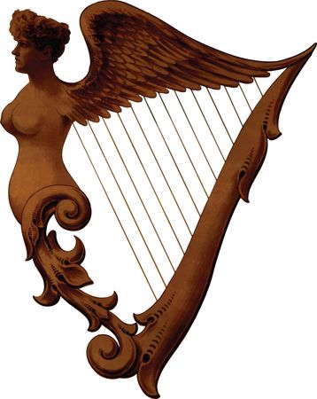 Free Clipart Of An irish harp