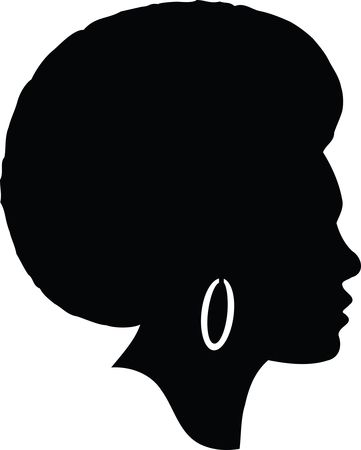 Free Clipart Of A silhouetted black woman