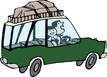 Free Clipart Of A couple on a road trip