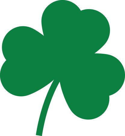 Free Clipart Of A St Paddys Day Solid Green Shamrock Four Leaf Clover