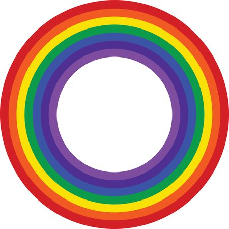 Free Clipart Of a rainbow border