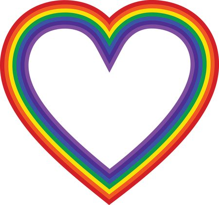 Free Clipart Of a rainbow heart